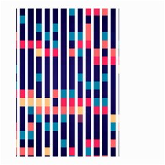 Stripes And Rectangles Pattern Small Garden Flag