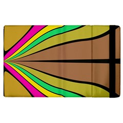 Symmetric Waves Apple Ipad 2 Flip Case