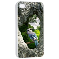 Bird In The Tree  Apple iPhone 4/4s Seamless Case (White)