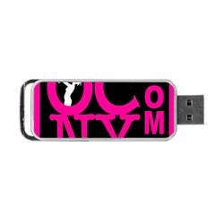 OCNYMOMS LOGO Portable USB Flash (One Side)