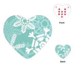 Snowflakes 3  Playing Cards (Heart)