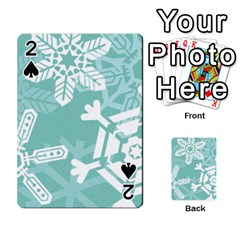 Snowflakes 3  Playing Cards 54 Designs
