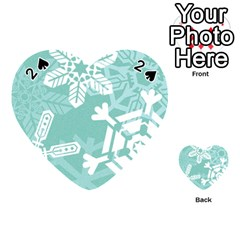 Snowflakes 3  Playing Cards 54 (heart)