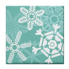 Snowflakes 3  Face Towel