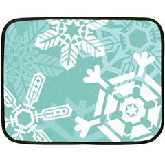 Snowflakes 3  Fleece Blanket (Mini)