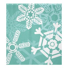 Snowflakes 3  Shower Curtain 66  x 72  (Large)