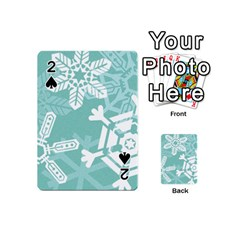 Snowflakes 3  Playing Cards 54 (Mini)