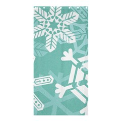 Snowflakes 3  Shower Curtain 36  x 72  (Stall)