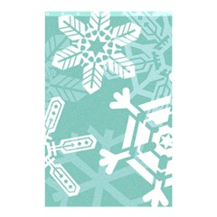 Snowflakes 3  Shower Curtain 48  x 72  (Small)