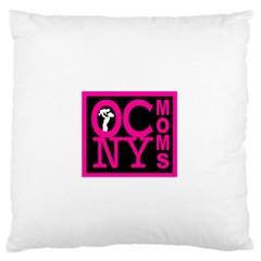OCNYMOMS LOGO Large Flano Cushion Cases (One Side)