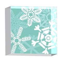 Snowflakes 3  5  x 5  Acrylic Photo Blocks