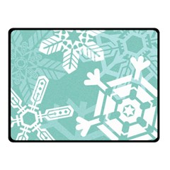 Snowflakes 3  Double Sided Fleece Blanket (Small)