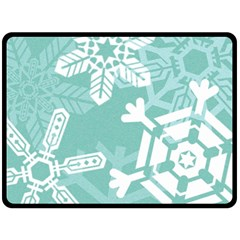 Snowflakes 3  Double Sided Fleece Blanket (large)