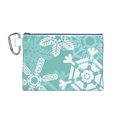 Snowflakes 3  Canvas Cosmetic Bag (M)