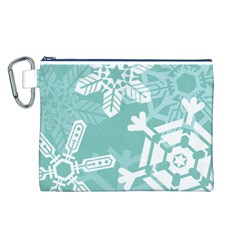 Snowflakes 3  Canvas Cosmetic Bag (L)