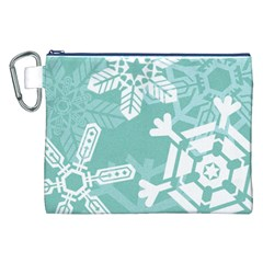 Snowflakes 3  Canvas Cosmetic Bag (XXL)