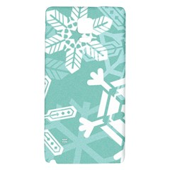 Snowflakes 3  Galaxy Note 4 Back Case