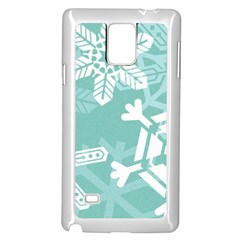 Snowflakes 3  Samsung Galaxy Note 4 Case (White)