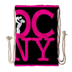 OCNYMOMS LOGO Drawstring Bag (Large)