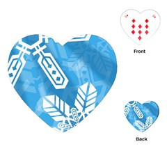 Snowflakes 1  Playing Cards (Heart)