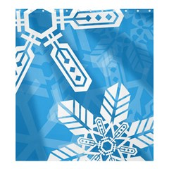 Snowflakes 1  Shower Curtain 66  x 72  (Large)