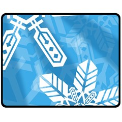 Snowflakes 1  Fleece Blanket (medium)