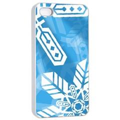 Snowflakes 1  Apple Iphone 4/4s Seamless Case (white)