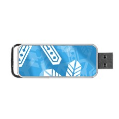 Snowflakes 1  Portable USB Flash (Two Sides)