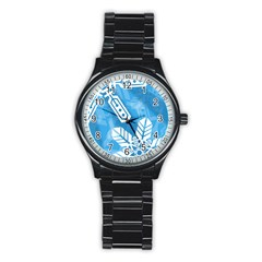 Snowflakes 1  Stainless Steel Round Watches