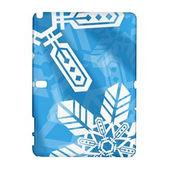 Snowflakes 1  Samsung Galaxy Note 10 1 (p600) Hardshell Case