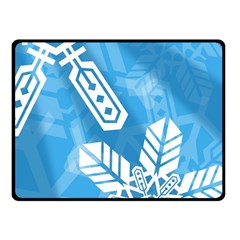 Snowflakes 1  Double Sided Fleece Blanket (Small)