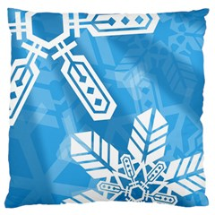 Snowflakes 1  Large Flano Cushion Cases (two Sides)