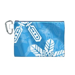 Snowflakes 1  Canvas Cosmetic Bag (M)