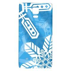 Snowflakes 1  Galaxy Note 4 Back Case