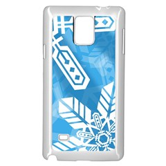 Snowflakes 1  Samsung Galaxy Note 4 Case (White)