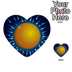 Sperm Fertilising Egg  Multi Purpose Cards (heart)