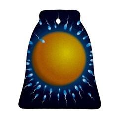 Sperm Fertilising Egg  Bell Ornament (2 Sides)