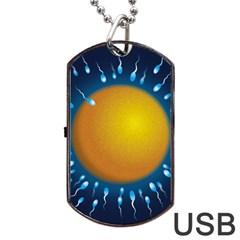 Sperm Fertilising Egg  Dog Tag USB Flash (Two Sides)