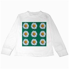 Daisy Pattern  Kids Long Sleeve T-Shirts