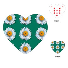 Daisy Pattern  Playing Cards (heart)