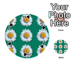 Daisy Pattern  Playing Cards 54 (Round)