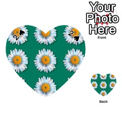 Daisy Pattern  Playing Cards 54 (Heart)