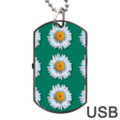 Daisy Pattern  Dog Tag USB Flash (Two Sides)