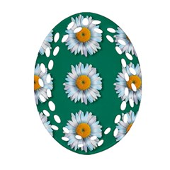 Daisy Pattern  Oval Filigree Ornament (2-Side)