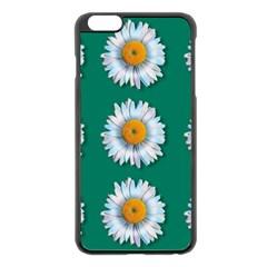 Daisy Pattern  Apple Iphone 6 Plus Black Enamel Case