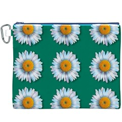 Daisy Pattern  Canvas Cosmetic Bag (XXXL)