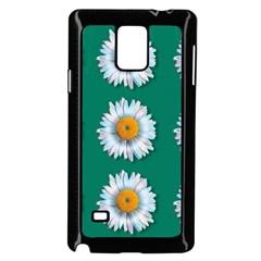 Daisy Pattern  Samsung Galaxy Note 4 Case (Black)