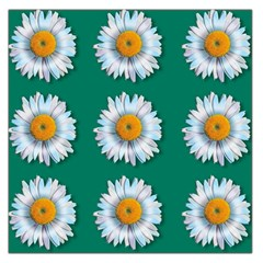 Daisy Pattern  Large Satin Scarf (square)