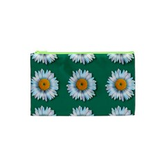 Daisy Pattern  Cosmetic Bag (XS)
