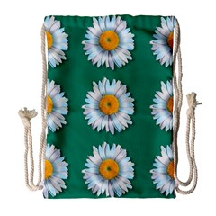 Daisy Pattern  Drawstring Bag (large)